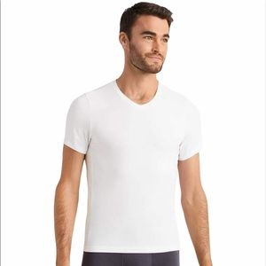 RHONE  Essentials V Neck Undershirt- White